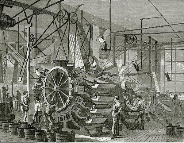 EPS Le papier peint -Atelier-impression-Gillou-et-Thorailler-Rapport-des-commissions-ouvrières-1867